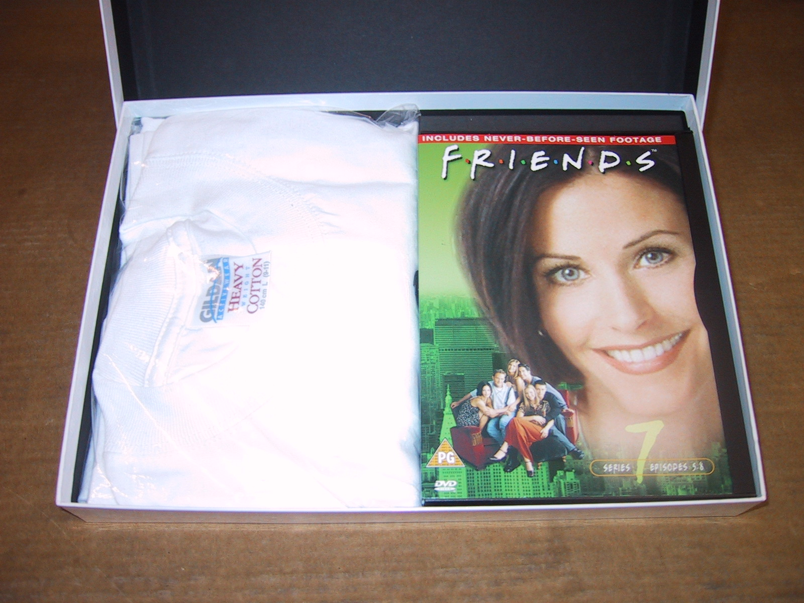 DVD and boxed t-shirt