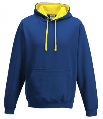 AWD varsity hoodie in royal/yellow