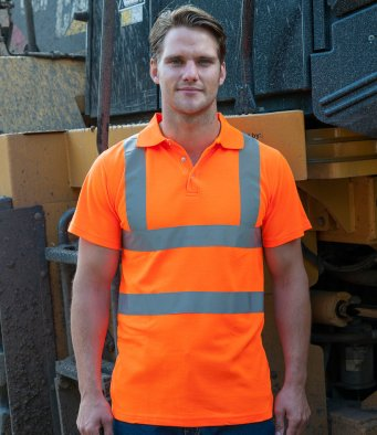 Hi-viz saftely polo shirt by RTY EN471 and GO/RT 3279
